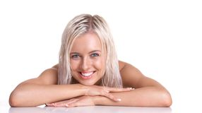 Young Blonde Woman Smiling Royalty Free Stock Photos