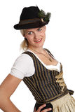 Young blonde woman in traditional bavarian costume Stock Photo