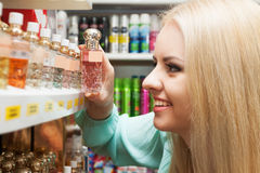Young blondie shopping in  store Stock Images