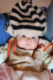 Young blue eyed baby Stock Photo