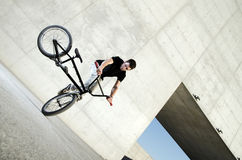 Young BMX bicycle rider Royalty Free Stock Photo