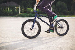 Young BMX bicycle rider Stock Image