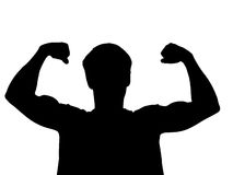 Young body builder. Royalty Free Stock Photography