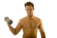 Young body builder male exercising Stock Images