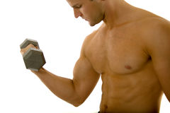 Young body builder male exercising Stock Photo