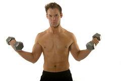 Young body builder male exercising Stock Image