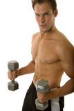 Young body builder male exercising Royalty Free Stock Photography