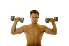 Young body builder male exercising Stock Photography