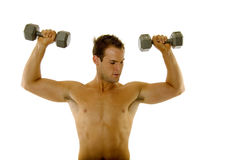 Young body builder male exercising Royalty Free Stock Image