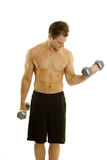 Young body builder male exercising Stock Photos