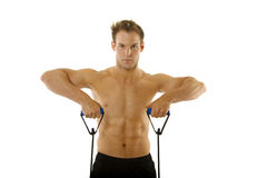 Young body builder man exercising Stock Photography