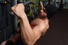Young Bodybuilder Doing Heavy Weight Exercise For Back Stock Photo