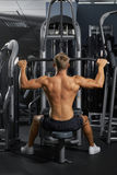 Young bodybuilder in the gym Stock Image