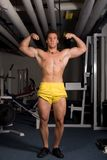 Young Bodybuilder posing Royalty Free Stock Images