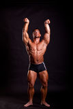 Young bodybuilder posing Royalty Free Stock Image