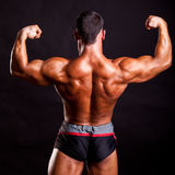 Young bodybuilder posing Stock Photography