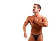 Young bodybuilder posing Stock Images