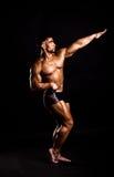 Young bodybuilder posing Stock Photos