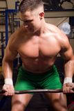 Young bodybuilder training Royalty Free Stock Photo