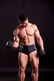 Young bodybuilder traininig Royalty Free Stock Photos
