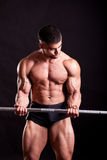 Young bodybuilder traininig Royalty Free Stock Photo
