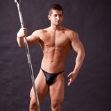 Young bodybuilder traininig Royalty Free Stock Image