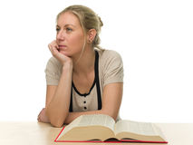 Young Bored Female Student Royalty Free Stock Image