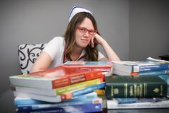 Young nurse with cap Stock Image