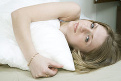 Young bored woman Stock Photography