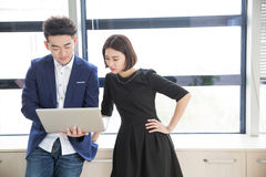 Young boss and assistant at work Royalty Free Stock Photography