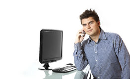 Young boss on the phone Stock Image