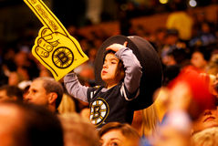 Young Boston Bruins fan. Stock Photography