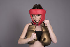 Young boxer with bare fists Royalty Free Stock Photography