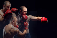 Young Boxer boxing Royalty Free Stock Photography