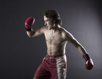 Young Boxer fighter Royalty Free Stock Photos