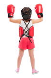 Young boxer girl from behind Stock Photography