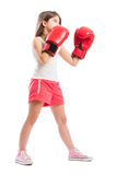 Young boxer girl Royalty Free Stock Image