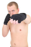 Young boxer over white Royalty Free Stock Photos