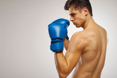 Young Boxer ready to fight. Royalty Free Stock Photography