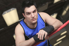 Young boxer who training for his fight Royalty Free Stock Photography