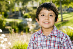 Young boy. Cute little boy playing outside Stock Image