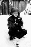 Young Boy. A young boy outside playing in the snow Royalty Free Stock Photo
