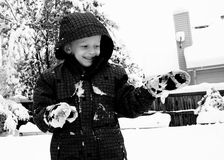 Young Boy. A young boy outside playing in the snow Royalty Free Stock Photos