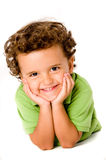Young Boy. A cute young boy on white background Royalty Free Stock Images