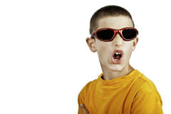 Young boy arguying stock images