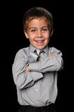 Young Boy With Arms Crossed Smiling Royalty Free Stock Image