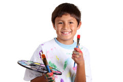 Young boy artist Stock Photo