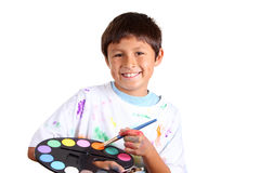 Young boy artist Stock Images