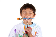 Young boy artist Royalty Free Stock Photo