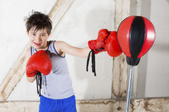 Young boy as a boxer Royalty Free Stock Image